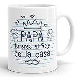 REGALOS ESTRELLA AZUL Taza día del Padre Regalo para Papa, Papa te Quiero, al Mejor papá del Mundo, Regalos Padres, Regalos día del Padre, Taza con Frases (Papá Eres el Rey)