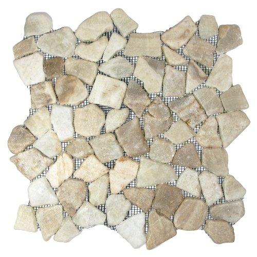 Glazed Mixed Quartz Mosaic Tile Sample