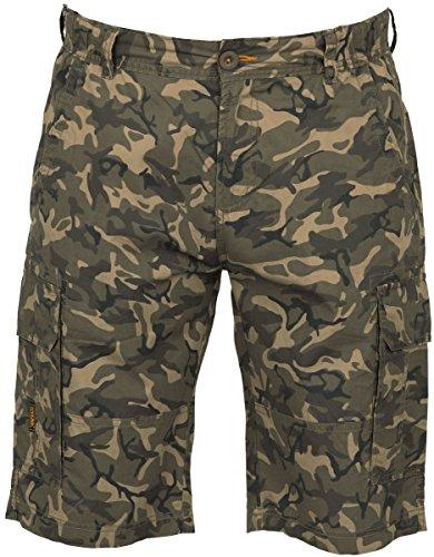 FOX Chunk Lightweight Cargo Shorts Camo - Hose, Angelhose kurz, Kurze Hose zum Angeln, Anglerhose, Größe:M