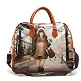 Trendy Treasures Women's Polyester Printed Hobo Bag Hand Bag, Shopping Mall Shoulder Luggage Bag (Multicolored), Large