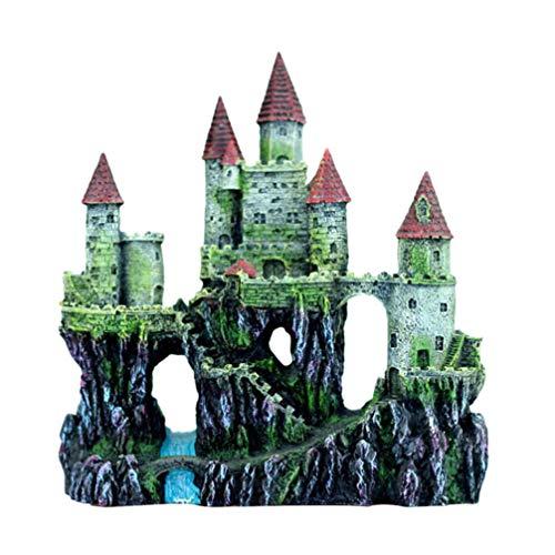 Balacoo decoración del Acuario del Castillo Resina Peces Oc