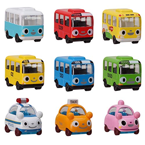 Tayo Mini Cars Toy for Kids - Metal Tayo The Little Bus and Friends Police car(Pat), Taxi(Nuri), Heart, Tayo, Rogi, Rani, Gani, BongBong, Kinder, Limited Toddlers and Kids Birthday Gift