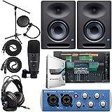 Presonus AudioBox 96 Audio Interface Full Studio Bundle with Studio One Artist Software Pack with...