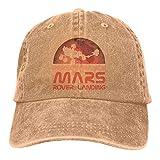 MEILIJISHI Gorra de béisbol para Hombres y Mujeres Mars 2020-Perseverance Rover LandingSombrero Ajustable Lavado Vintage de Vaquero