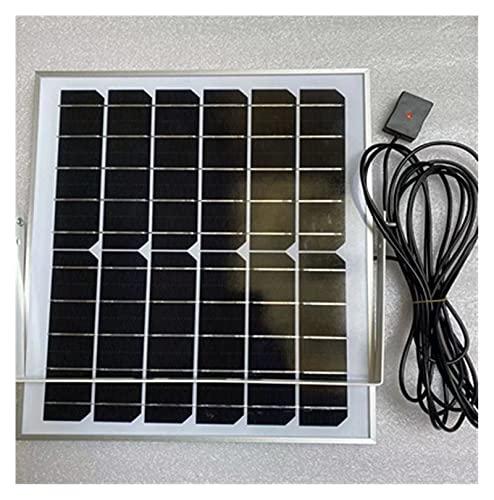 Mini Panel Solar 6V 6W 6V 12W Kit de Paneles solares con estabilizador. 5V 2A Paneles solares de Salida Estable para Kit de Sistema Solar doméstico/Potencia al Aire Libre