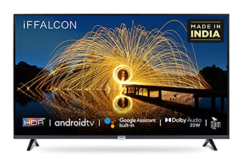 iFFALCON 80 cm (32 inches) HD Ready Android Smart LED TV 32F2A (Black) (2021 Model) | With Built-in Voice Assistant
