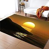 XuJinzisa Sunset Sea View Alfombra De Impresión 3D Suave...