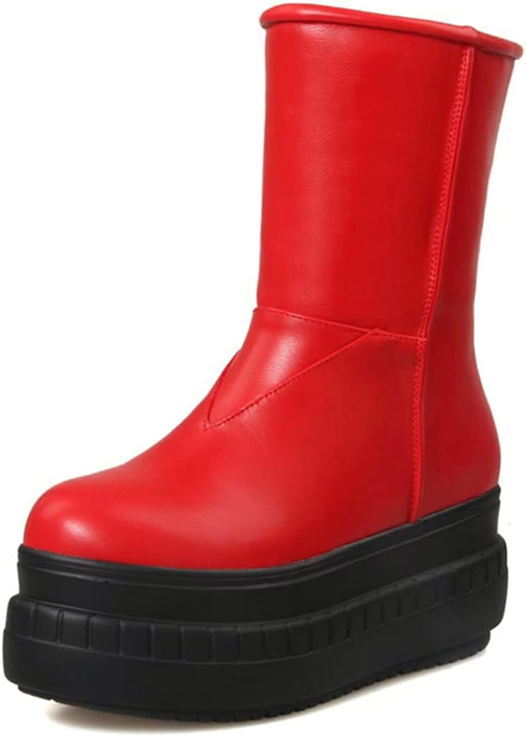 RHFDVGDS Autumn and winter fashion boots Ladies snow boots thick-soled platform boots Casual warm women's boots