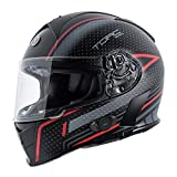 TORC T14B15SBR24 T14B Blinc Loaded Scramble Mako Full Face Helmet (Flat Black with Graphic, Large)
