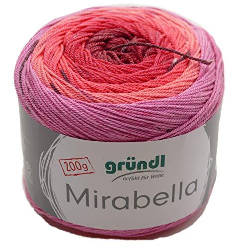 Gründl Mirabella #05 Bobbel - Ovillo de lana para tejer o hacer ganchillo de 3,5 - 4,5 mm, 200 g aprox. 420 m | precio básico 6,49 €/100 g