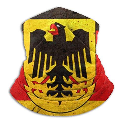 Bandera de Alemania Vintage con Escudo de Armas Calentador de Cuello Calentador de Cuello a Prueba de Viento Pañuelo de pasamontañas de Cara UV para Deportes al Aire Libre Negro