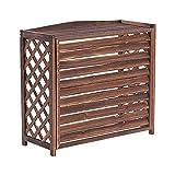 Portaoggetti per condizionatori d'aria Portafiori per esterni Elementi essenziali per recinzione Schermo per la privacy Scaffale per piante in legno massello per balcone da giardino,34x14x30inch