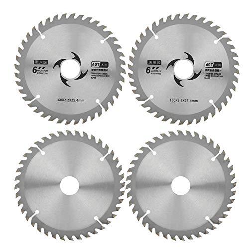 Hojas de sierra de 40 dientes Hojas de sierra circular de 6 pulgadas Hoja de sierra de corte Web con junta para procesamiento de madera