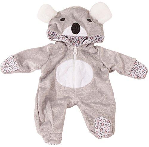 Götz 3402915 Onesie Koala - Einteiliger Puppen-Overall Puppenbekleidung Gr. S - Bekleidungs- und Zubehörset für Babypuppen 30 - 33 cm