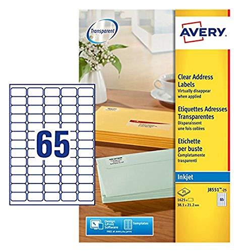 Etiquetas Adhesivas Transparentes Tinta Marca Avery Dennison