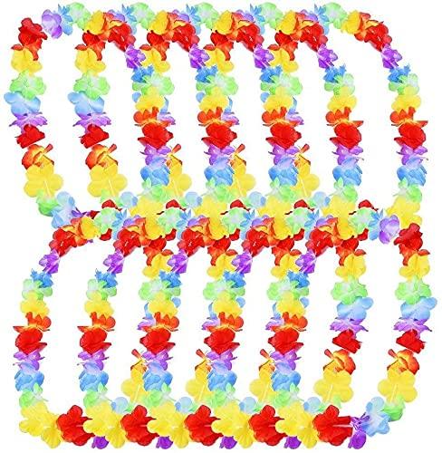 Miss-shop Decoración de Fiesta en la Playa, Collar de Flores Hawaianas, Corona de Playa, Corona de Girasol 10 Piezas de Flores de Loto Hawaianas se Pueden Usar en Vestidos, (Multicolor)