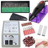 VINGO Manucure Machine 30000RPM Électrique Professionnelle Pédicure Ongles Machine à Poncer Ponceuse avec Pédale Retirer le Vernis/Gel