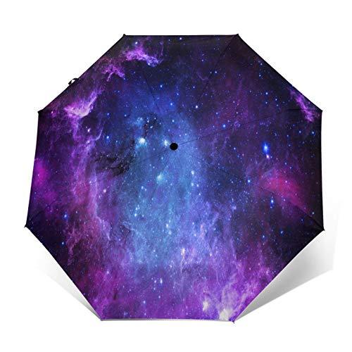 Star Field - Paraguas de viaje compacto y plegable, resistente al viento, a prueba de lluvia