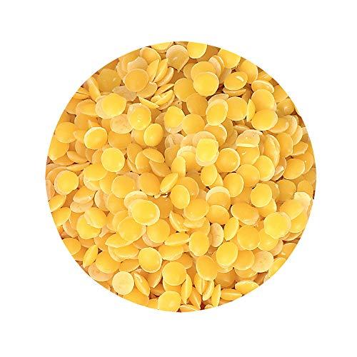 NKlaus 500 g de cera de abeja pura Flava, amarillo, pastillas, sin...