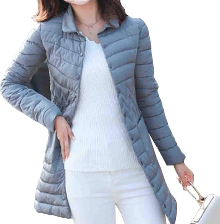 Jxfd Womens Light Weight Long Puffer Winter Warm Down Parka Jackets