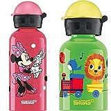 Sigg Minnie Mouse Cantimplora Infantil (0.4 L), Botella Para Niños + Jungle Train Cantimplora Infantil (0.3 L), Botella Para Niños Sin Sustancias