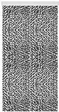 Arsvita flojel Cortina de Negro Gris de Color Blanco Jaspeado, poliéster, mit Raffhalter, 120x195 cm