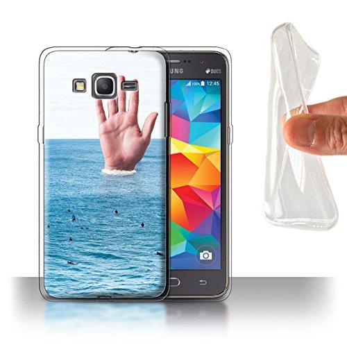 Stuff4® Gel TPU Hülle/Case für Samsung Galaxy Grand Prime/Große Welle Muster/Unten Unter Kollektion