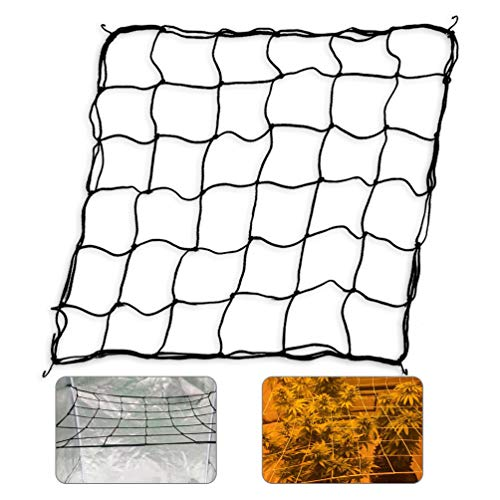 GROWNEER Flexible Net Trellis for Grow Tents Fits 4x4 and More Size Includes 4 Steel Hooks 36 Growing Spaces