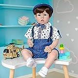 70CM Original Enorme tamaño de bebé Reborn Baby Toddler Boy Liam muñeca terminada Cuerpo Suave Pintura 3D Tono de Piel con Venas