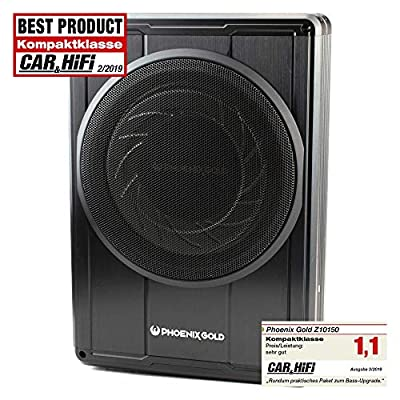 PHOENIX GOLD Z10150 Low Seat Subwoofer Active/Subwoofer Subwoofer 25 cm / 150 W RMS with Remote Control by PHOENIX