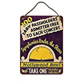 Tengss Symphonies Under The Stars at The Hollywood Bowl Vintag Dinning Room Decor Kitchen Bedroom Bar Wood Sign 20x30cm