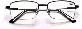 Progressive Multifocal Computer Reading Glasses Blue Light Blocking Titanium Alloy Spring Hinge Readers Eyeglasses Anti Glare Eye Strain Light Weight for Men and Women (2.0)