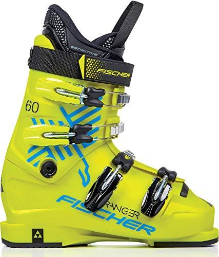 fischer 255 Ranger 60 JR Chaussures de Ski Unisexes pour Enfant Jaune Taille 25,5