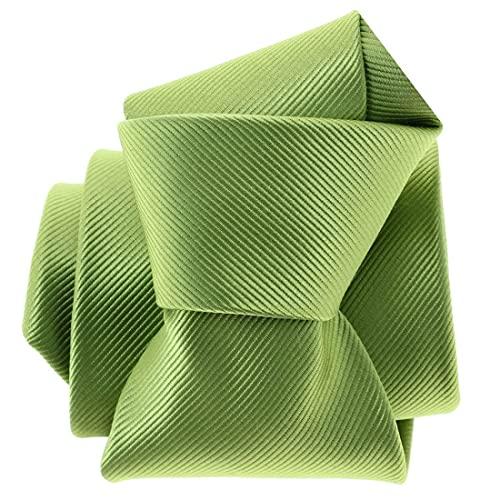 Clj Charles Le Jeune. Cravate. Monochrome, Microfibre. Vert, Uni.