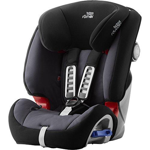 Britax Römer Reboarder Kindersitz 9 Monate - 6 Jahre | 9 - 25 kg | Multi-Tech III Autositz Gruppe 1/2 | Storm Grey