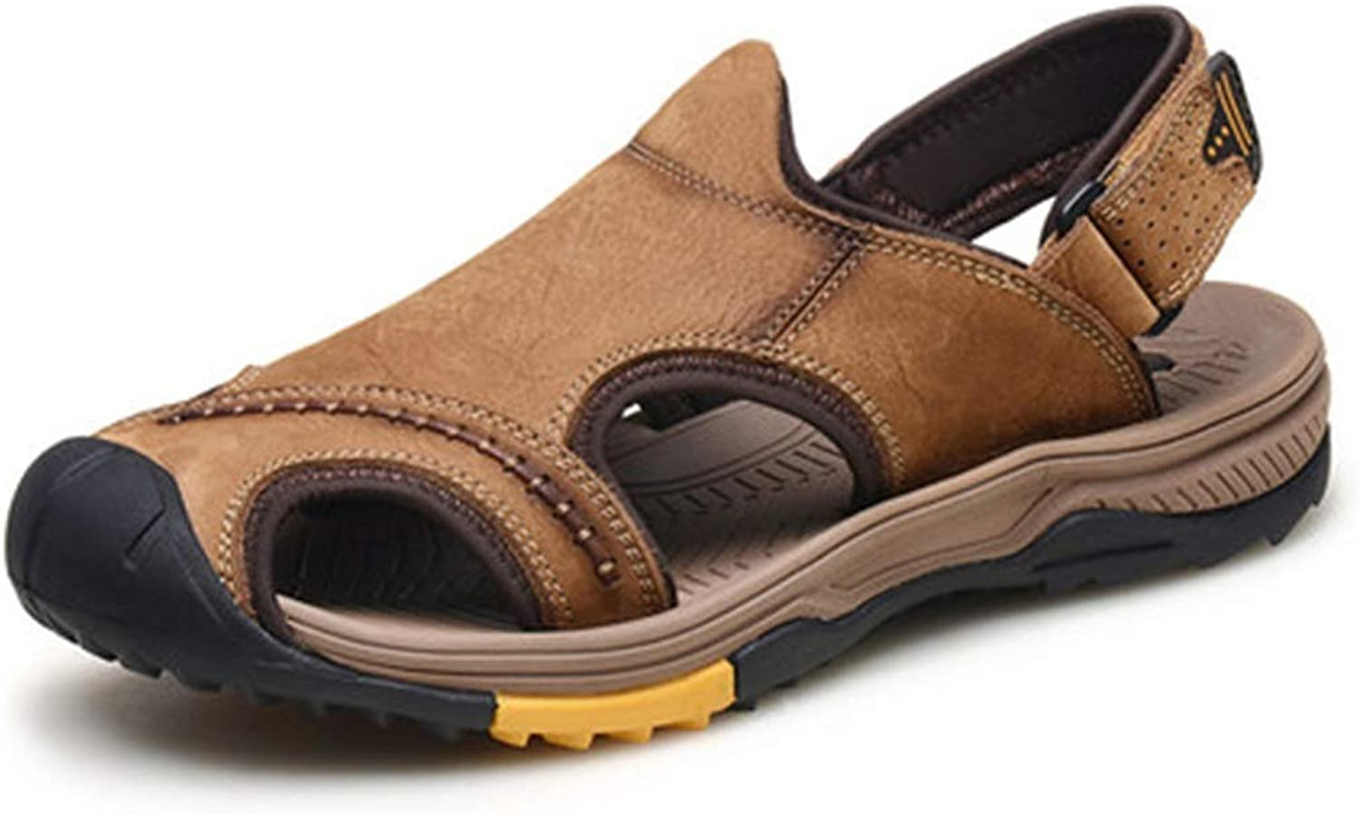Sandals Sport & Outdoors Dynamic Leather Men's 2019 New Beach shoes Outdoor Non-Slip Simple Breathable(color )(Size )