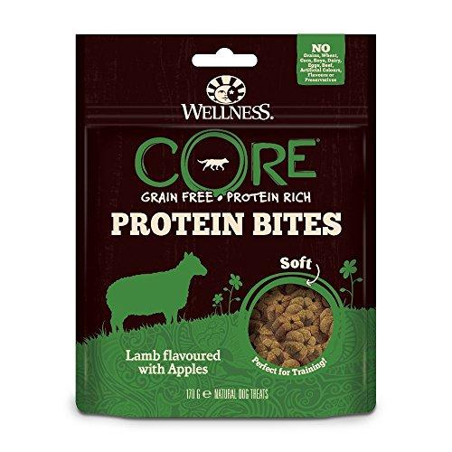 Wellness CORE Hund Protein Bites Soft Getreidefreie Leckerli, Lamm mit Apfel, 2 x 170 g