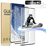 [2+2] Screen Protector for Samsung Galaxy S10 Plus/S10+ 6.4 Inch, with Camera Lens Protector, 9H Tempered Glass Film HD Clear 3D Curved Full Coverage Fingerprint Unlock Support Bubble Free