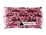 HERSHEY'S KISSES Chocolate Christmas Candy, Pink Foils, Milk Chocolate, 4.1lb Bulk Candy