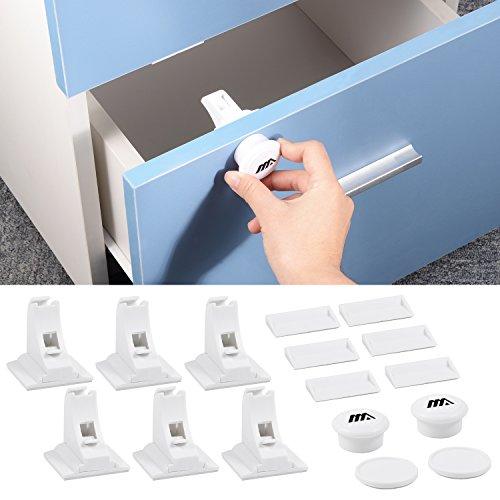Cabinet Locks /& Bretelles akeekah 8 Pack de sécurité enfant Armoire Serrures Baby Proof