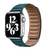 OLBGELYING Cuir Lien pour Apple Watch Band 44mm 40mm Bande de Montre 42mm 42mm Bracelet de Boucle...