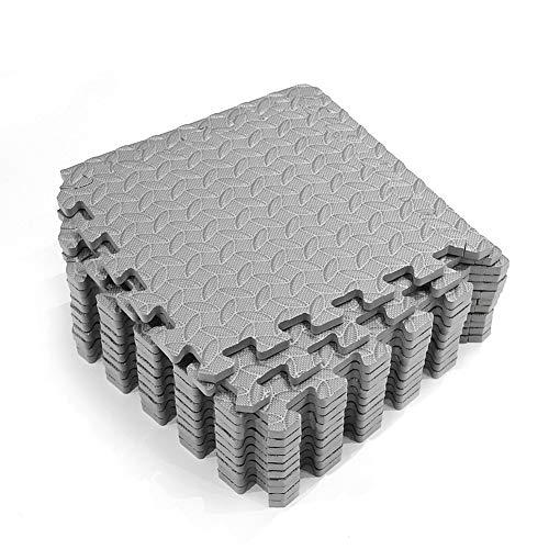 POHOVE 12pcs Exercise Mat with EVA Foam Interlocking Tiles,Home Gym Foam Floor Mats, Foam Flooring Mats Protective Home Gym Anti Slip Cushion