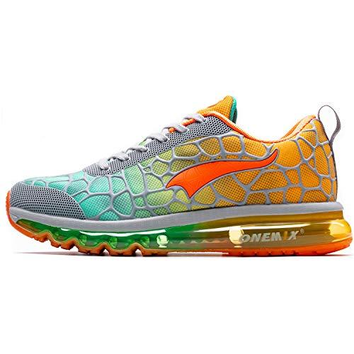 ONEMIX Zapatillas Running para Hombre Aire Libre y Deporte Transpirables Casual Zapatos Gimnasio Correr Sneakers