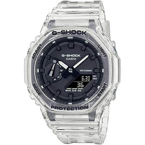 Casio G-Shock By Men's GA2100SKE-7A Analog-Digital Watch Clear White