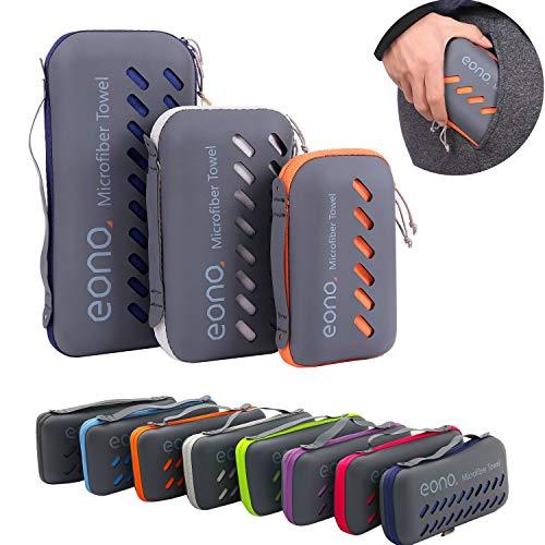 Eono by Amazon - Mikrofaser Handtücher in 8 Farben - Saugfähig, Leicht, Schnelltrocknend, Perfekte...