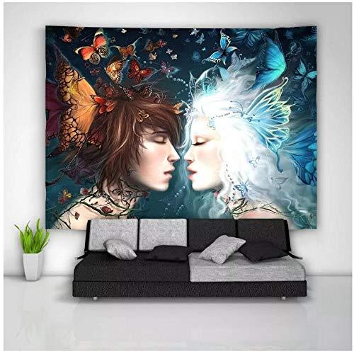 KBIASDniña niño Pared Arte Tapiz Colgante Dormitorio psicodélico decoración del hogar 200x150 cm