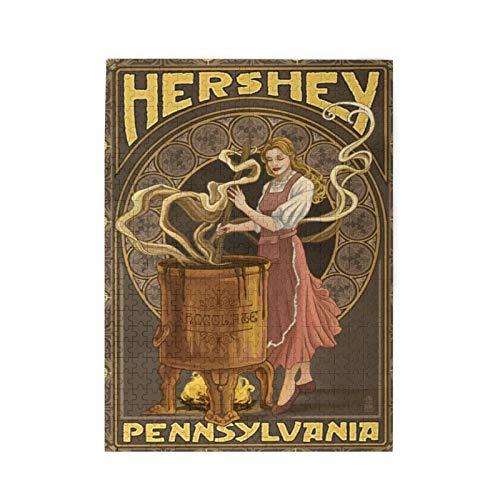 Hershey, Pensilvania   Puzzle de mujer haciendo chocolate 500 piezas