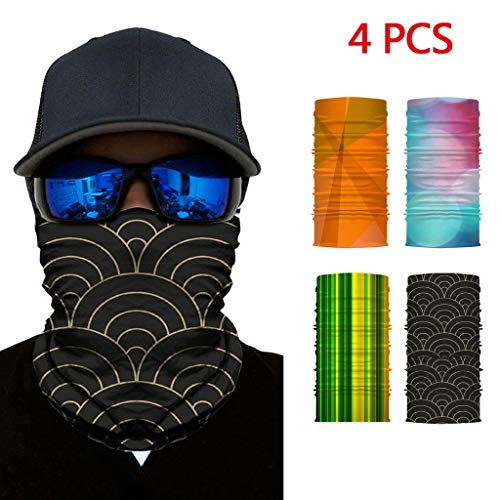 Purchase HunYUN Men Women Riding Sunscreen UV Protection 3D Printed Dust-Proof Face Shield Neck Guar...