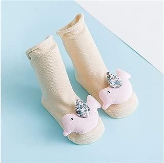 Lovely Socks Children Cotton Socks Kids Spring Little Birds Loose Mid Tube Socks (Turmeric) Newborn Sock (Color : Beige)