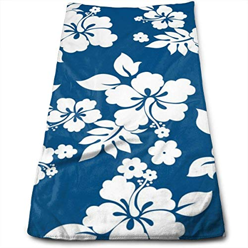Pizeok Aloha Toalla de Mano con Nombres de café Floral Hawaiano, 100% Microfibra, Toalla de Playa Absorbente Suave para baño, Cocina, 12 x 27,